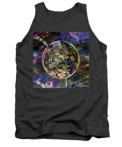 Tank Top featuring the digital art Orb Of Roses Past by Robin Moline