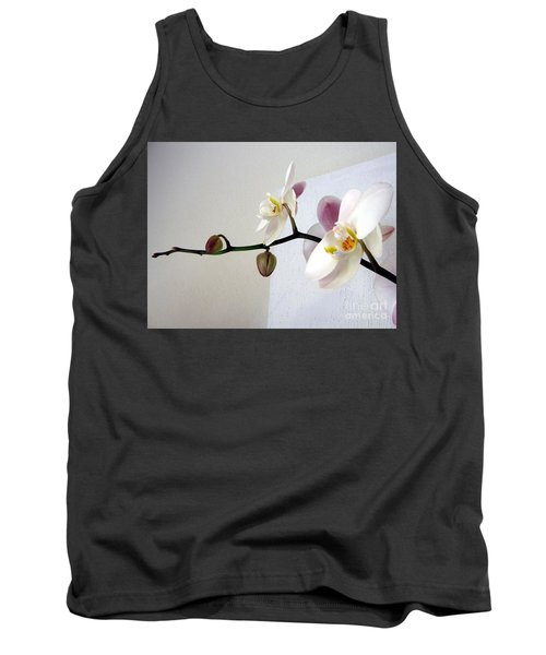 Orchid Coming Out Of Painting Tank Top
