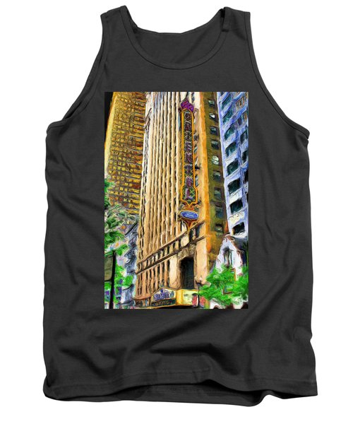 Oriental Theater Of Chicago Tank Top by Ely Arsha