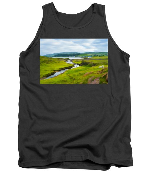 Osdale River Leading Into Loch Dunvegan In Scotland Tank Top
