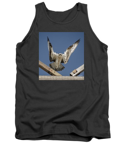 Tank Top featuring the photograph Osprey Landing by Dale Powell