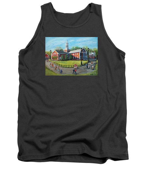 Tank Top featuring the painting Our Time At Bentley University by Rita Brown