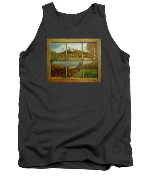 Out My Window-autumn Day Tank Top by Sheri Keith
