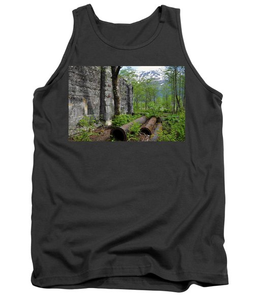 Tank Top featuring the photograph Out From The Past by Cathy Mahnke