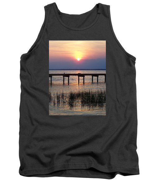 Tank Top featuring the photograph Outerbanks Nc Sunset by Sandi OReilly