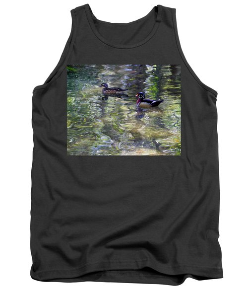 Paddling In A Monet Tank Top
