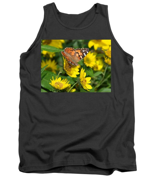 Tank Top featuring the photograph Painted Lady by James Peterson