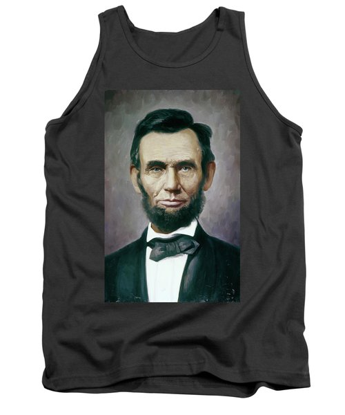 Painting Abraham Lincoln 16th President Tank Top