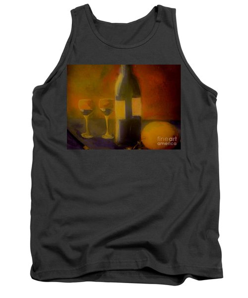 Tank Top featuring the painting Painting And Wine by Lisa Kaiser