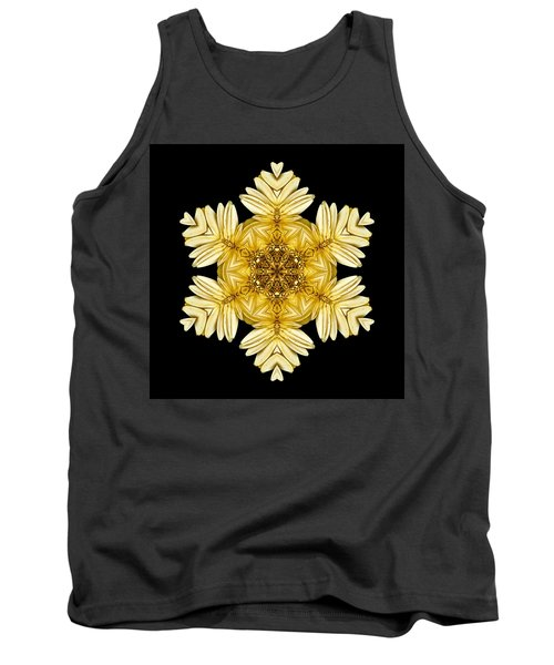 Pale Yellow Gerbera Daisy Vii Flower Mandalaflower Mandala Tank Top