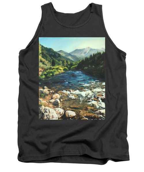 Palisades Creek  Tank Top by Lori Brackett