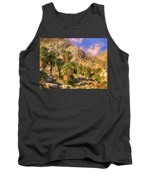Palm Oasis In Late Afternoon Tank Top