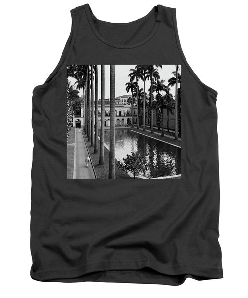 Palm Trees Bordering A Pool Tank Top