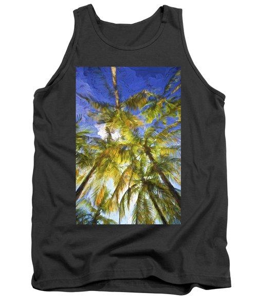 Palm Trees Of Aruba Tank Top