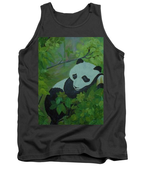 Tank Top featuring the painting Panda by Christy Saunders Church