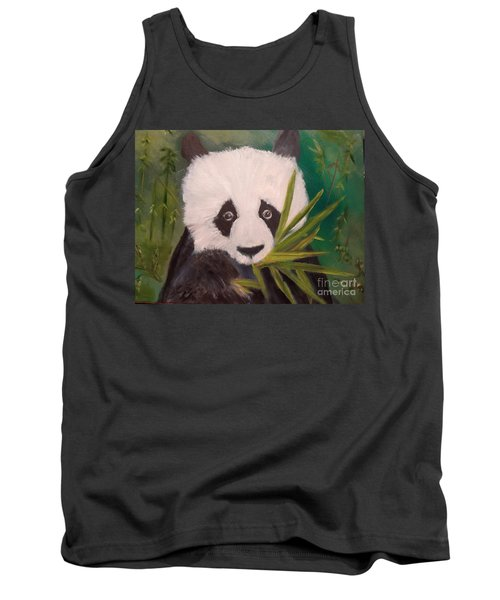 Tank Top featuring the painting Panda by Jenny Lee