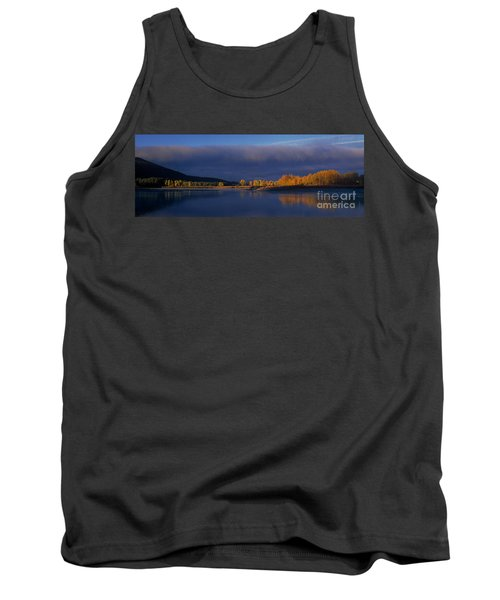 Tank Top featuring the photograph Panorama Clearing Storm Oxbow Bend Grand Tetons National Park Wyoming by Dave Welling