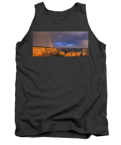 Tank Top featuring the photograph Panorama Rainbow Over Cape Royal North Rim Grand Canyon National Park by Dave Welling