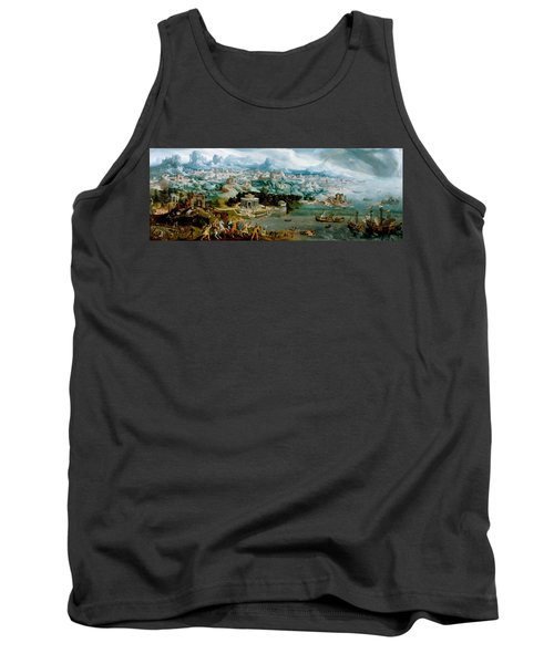 Panorama With The Abduction Of Helen Amidst The Wonders Of The Ancient World Tank Top