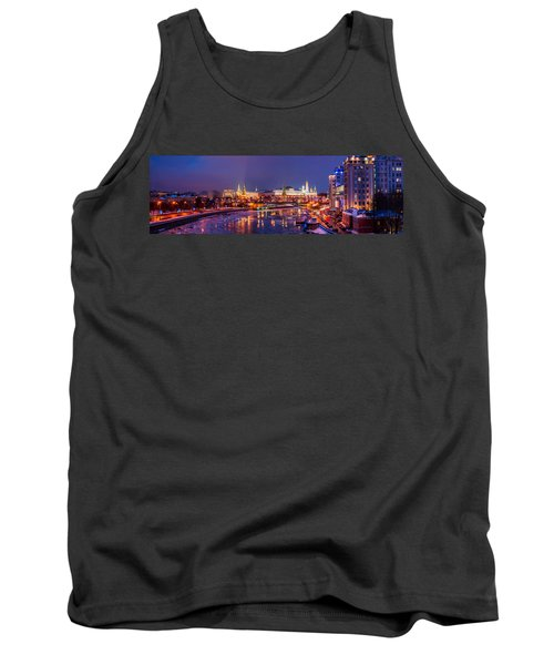 Panoramic View Of Moscow River And Moscow Kremlin  - Featured 3 Tank Top by Alexander Senin