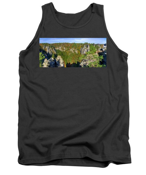 Panoramic View Of The Elbe Sandstone Mountains Tank Top