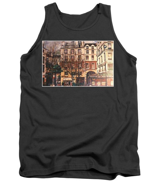 Tank Top featuring the painting Paris by Walter Casaravilla