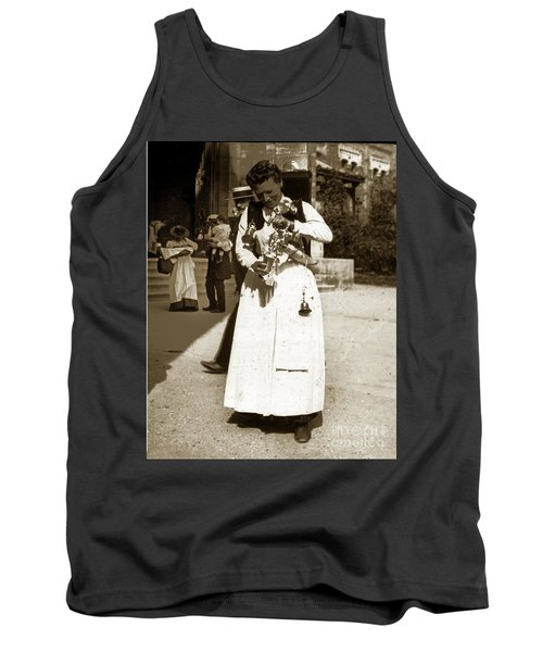 Tank Top featuring the photograph Parisian Woman Lady Paris France 1900 Historical Photo by California Views Mr Pat Hathaway Archives