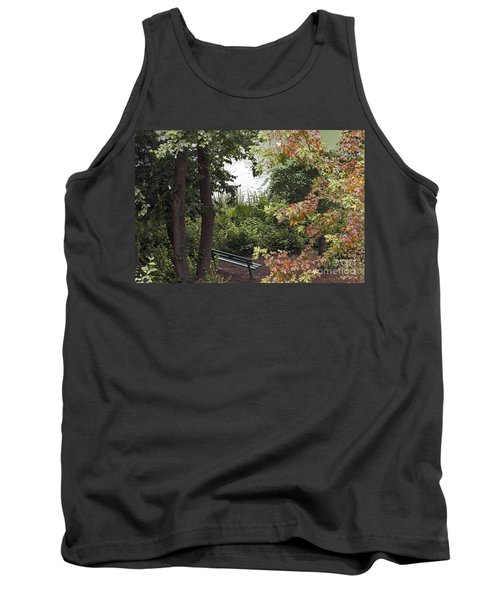 Tank Top featuring the photograph Park Bench by Kate Brown