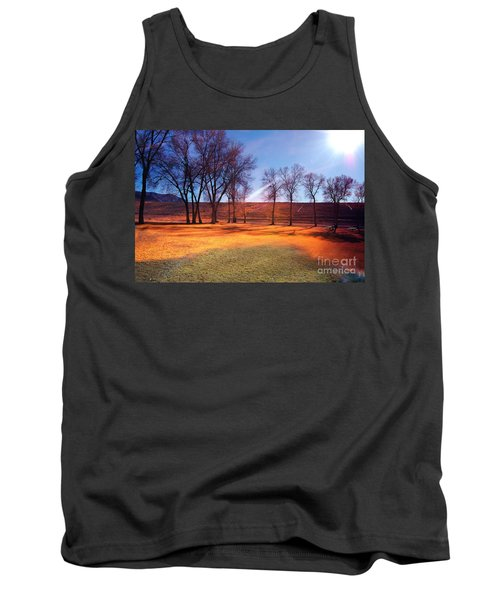 Park In Mcgill Near Ely Nv In The Evening Hours Tank Top by Gunter Nezhoda