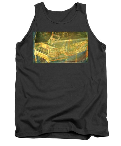 Tank Top featuring the mixed media Past To Present by Ally  White