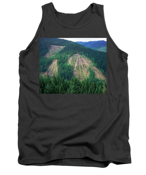 Patches Of Clearcut Mountain Tank Top
