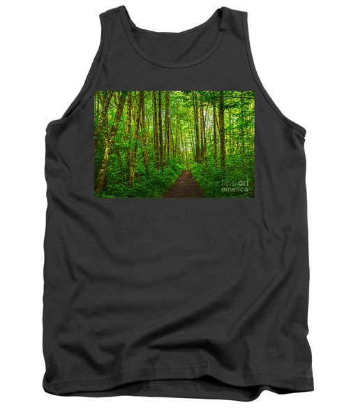 Path In Green Tank Top by Sonya Lang