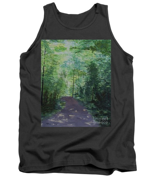 Tank Top featuring the painting Path To The River by Martin Howard
