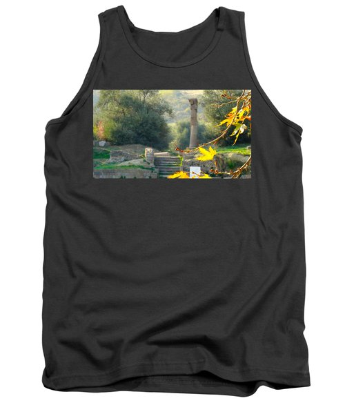 Tank Top featuring the photograph Peace At Asclepion by Alan Lakin