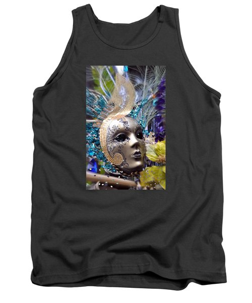 Peace In The Mask Tank Top by Amanda Eberly-Kudamik