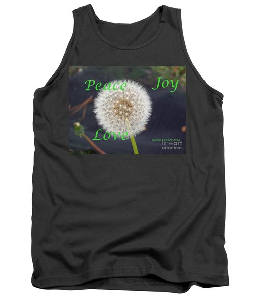Peace Joy And Love Tank Top by Robin Coaker