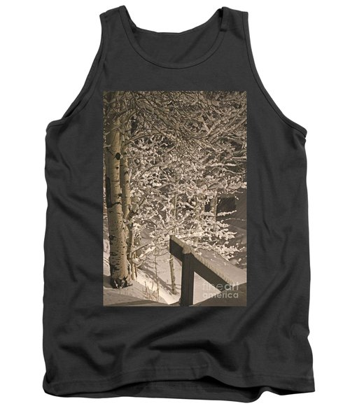 Peaceful Blizzard Tank Top by Fiona Kennard