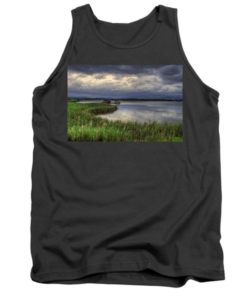 Peaceful Evening At The Lake Tank Top