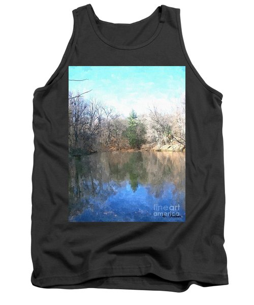 Tank Top featuring the painting Peaceful Retreat 2 by Sara  Raber