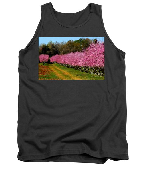 Tank Top featuring the photograph Peach Orchard In Carolina by Lydia Holly