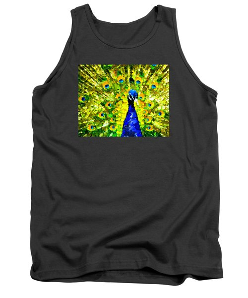 Peacock Abstract Realism Tank Top