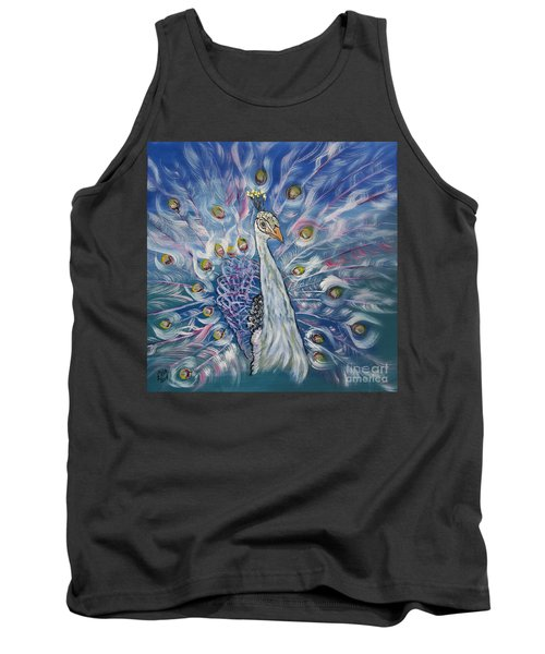Peacock Dressed In White Tank Top