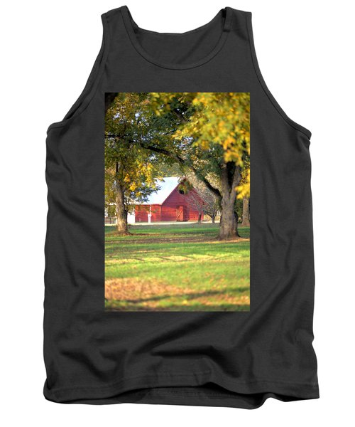 Tank Top featuring the photograph Pecan Orchard Barn by Gordon Elwell