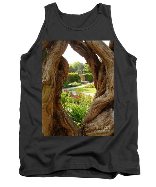 Tank Top featuring the photograph Peek At The Garden by Vicki Spindler