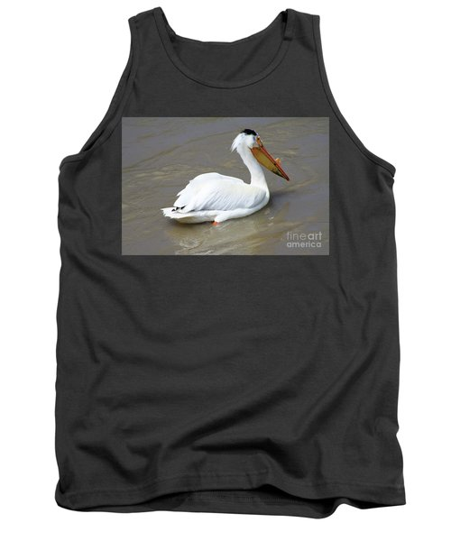 Tank Top featuring the photograph Pelecanus Eerythrorhynchos by Alyce Taylor