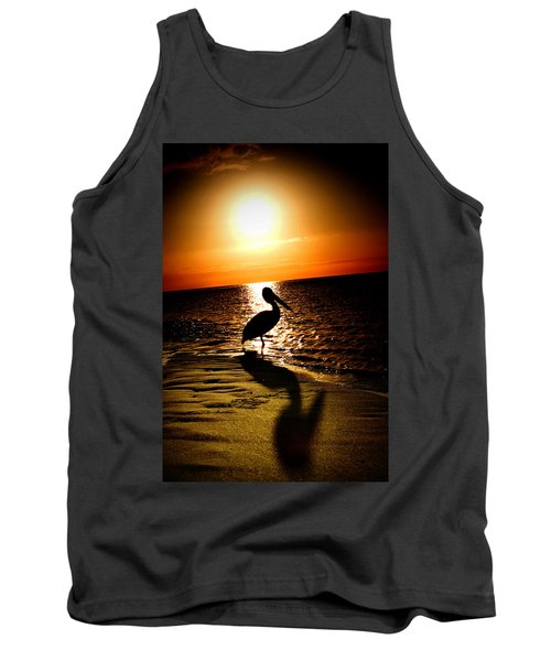 Tank Top featuring the photograph Pelican Sunrise by Yew Kwang