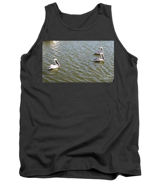 Tank Top featuring the photograph Pelicans In Florida by Oksana Semenchenko