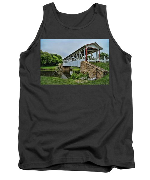 Tank Top featuring the photograph Pennsylvania Covered Bridge by Kathy Churchman