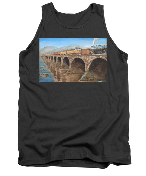 Pennsylvania Railroad On The Rockville Bridge Tank Top