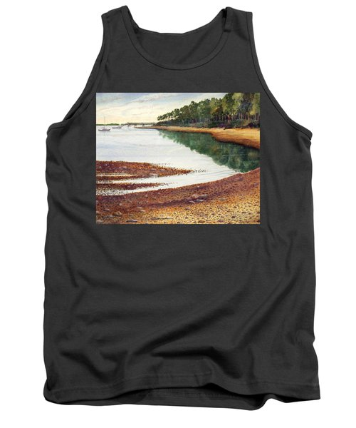 Tank Top featuring the painting Penobscot Bay by Roger Rockefeller